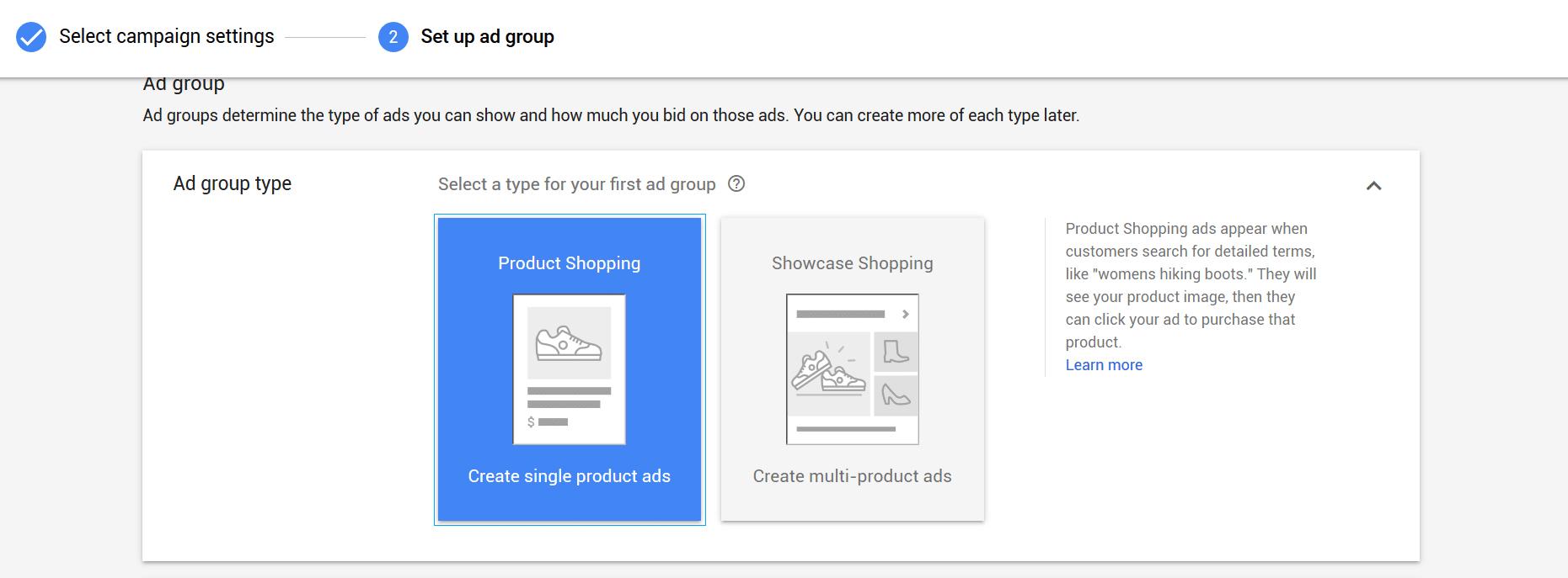 how to setup Google shopping ads