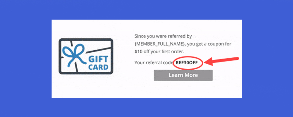 Look out for referral codes